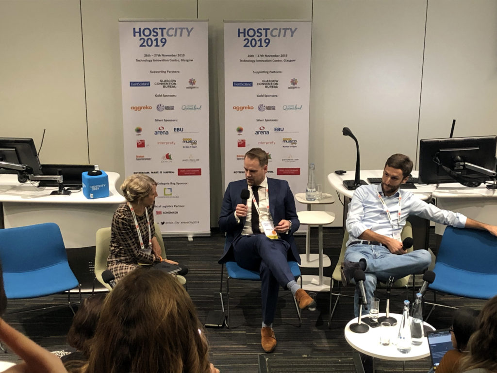 Matthijs Smit of Movico and SAAN Trucking speaking // Hostcity Glasgow 2019