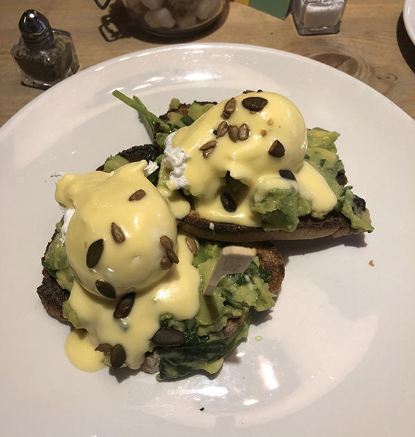 Eggs and Smashed Avocado on Glutenfree Bread