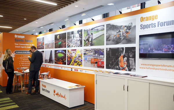 Orange Sports Forum Exhibition Stand // Hostcity 2019